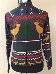 PRIMAL Cycling Heavyweight Jersey SZ S Theirmal Christmas Ugly Sweater