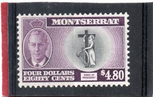 Montserrat GV1 1951 $4.80 black & purple sg 135 VLH.Mint