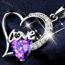 Fine Jewellery Amethyst Pendant Silver 925 Women Gifts for Girl Friend Ladies A6