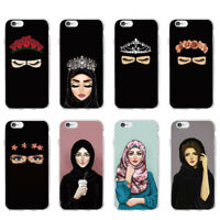 Muslimah niqab rose floral girl soft case for iPhone XS 8 7 6 Samsung S9 S10 A8