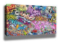 CRAZY TAGS GRAFFITI STREET ART HIGH QUALITY CANVAS POSTER PRINT - HUGE SIZES