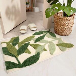 Flocking Bath Mat Non-slip Bathroom Rug Door Mat Super Bath Carpet Kitchen Mat