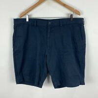 Ralph Lauren Mens Shorts 40 Blue Zip Closure Chino Pockets