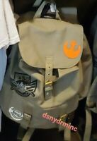 Disney Star Wars Galaxy's Edge Resistance Logo Backpack Bag Black Spire Outpost