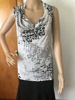 NYC New York and Company Womens Stretch Sleeveless Tank Top Sz Medium Gray/Black