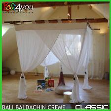 Bali Classic Baldachin Cremewei�Ÿ 160x200 Betthimmel Moskitonetz incl. 4 Quasten