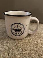 White Dutch Bros Brothers Coffee Cup Mug