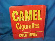 1950s CAMEL CIGARETTES SOLD HERE Metal Litho Advertising STORE FLANGE SIGN