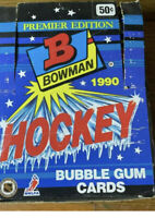1990 Bowman Premier Edition Hockey Card Box Lot -  Sealed Packs