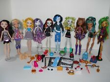 7 Monster High & 3 Ever After Dolls, Clothes & Accessories: Invisi Billy, Sloth