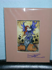 Amy Brown - Halloween Faery - Matted Postcard - SIGNED