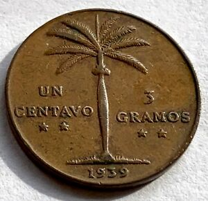 DOMINICAN REPUBLIC 1  CENTAVO 1939