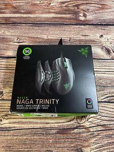 Razer Naga Trinity MOBA / MMO Gaming Mouse - 16,000 DPI 5G Optical Sensor.