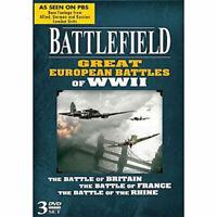 Battlefield: Great European Battles of WWII DVD 3 Disc Set