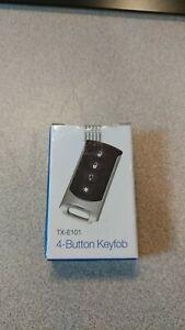 Interlogix TX-E101 4-Button Wireless Remote Keyfob   ~!~ Brand New ~!~