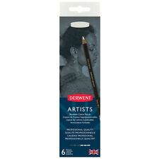 Derwent Artists 6 Tin Set of Professional Quality Black & White Color Pencils