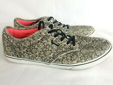 Vans Atwood Womens 10 Low Black Paisley Print Canvas Sneakers Shoes