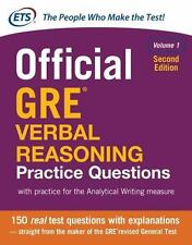 Official GRE Verbal Reasoning Vol. 1 by Educational Testing Service (2017,...