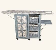 Victorian French Country Ironing Board Storage Cart Station Laundry Room