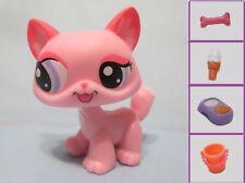 Littlest Pet Shop Pink Walking Cat 1313 w Free Accessory Authentic Lps