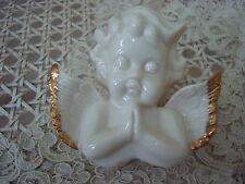 Beautiful Vintage Ceramic Angel Cherub PRAYING SMALL TRINKET BOX  **SO CUTE**
