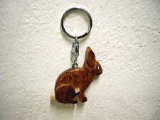 "Schlüsselanhänger ""Hase"" (Holz) / Keychain ""Bunny"" (Wood)"