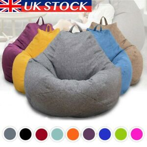 Large Classic Bean Bag Cover Indoor Outdoor Extra Large Garden Beanbag Seat UK
