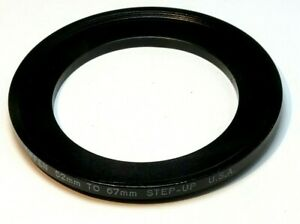 Tiffen 52mm to 67mm Step-up ring Metal adapter double threaded for lens filter