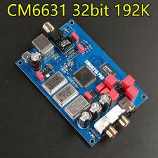 New CM6631A USB to I2S / SPDIF Coaxial 32Bit 192K Sound Card Digital Interface