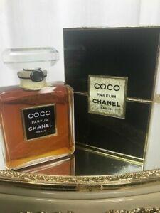 Coco parfum Chanel pure parfum 60 ml. Vintage, 1984 edition Crystal bottle.