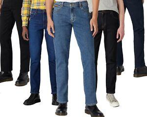 Original Wrangler Mens Genuine Iconic Texas Straight & Slim Fit Stretch Jeans