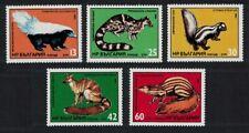 Bulgaria Skunk Linsang Zorilla Civet Galidia Mammals 5v 1985 Mnh Sg#3210-3214