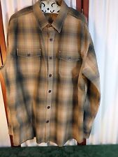 North River Outfitters Mens Brown Long Sleeved Shirt-Size M