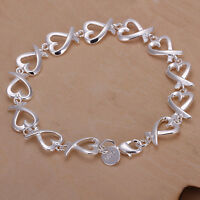 Armband Armkette Silber Herz Kette Silver Schmuck Geschenk DRP