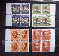 Transkei 1976 Independence set in block x 4 MNH