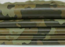 OLIVE CAMO green camouflage Lambskin Lamb Sheep leather skins 6sqf 0.7mm #A6380