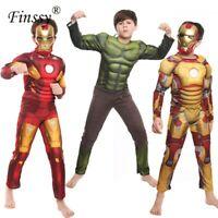 Kids Captain America Costume Avengers Child Cosplay Super Hero Halloween Boys 20