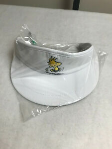 Peanuts Woodstock Embroidered Visor Adjustable White Golf NEW