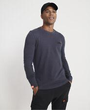 Superdry Mens Orange Label Twill Texture Long Sleeve Top