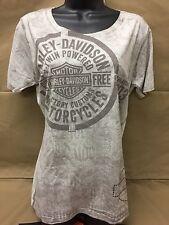 "Harley-Davidson Off white w/stud S/S ""Breakout "" women's shirt Medium"