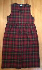 PENDLETON Vintage Pendelton Dress Jumper Wool Plaid, size Large?