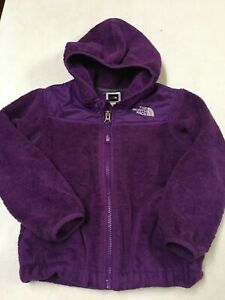 THE NORTH FACE OSITO PURPLE FLEECE HOODED FULL ZIP JACKET GIRLS  SZ  4T   4