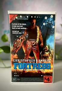 Fortress VHS Clamshell Ex-rental PAL TAPE TESTED & WORKING Christopher Lambert