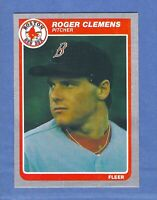 1985 Fleer Roger Clemens ROOKIE Boston Red Sox #155 GEM MINT QUALITY & Centered!