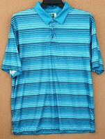 Men's XL Ben Hogan Performance Polo Blue Striped Extra Large Pre-Owned