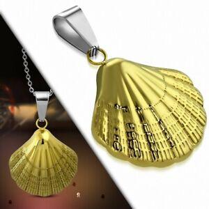 Pendant Stainless Steel Golden Shell