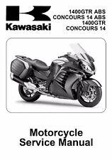 Kawasaki GTR 1400 Concours 14 2010 - 2017 service repair shop tech manual