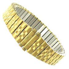 12-16mm Gilden Twist-O-Flex Stainless Steel Gold Tone Ladies Watch Band 130-Y