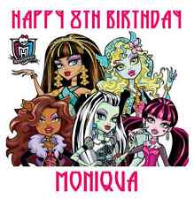 "Monster High Birthday Iron On Transfer, 5""x5"", for LIGHT Colored Fabrics"