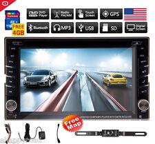 Backup Camera+GPS Navi Double 2 Din Car Stereo Radio DVD CD mp3 Player Bluetooth